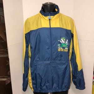 Vintage 90's Norte Dame Fighting Irish Windbreaker